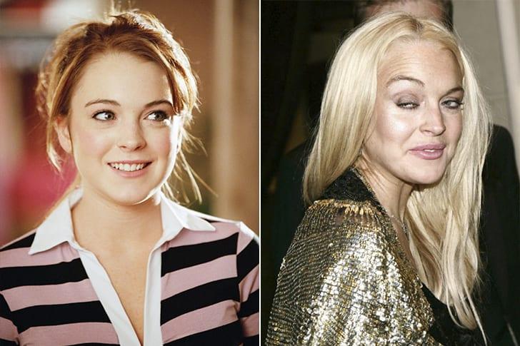 Celebridades que enfrentaram transformações com o tempo - Lindsay Lohan (Foto: Reprodução)